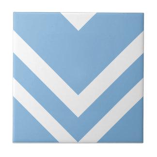 Chevron 2 Placid Blue Tiles