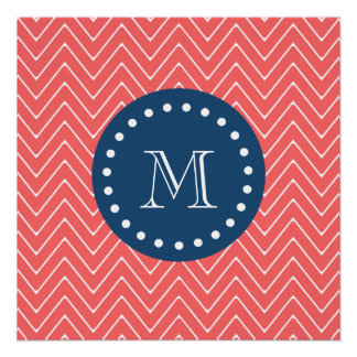 chevron 2A coral fb6566.png Perfect Poster