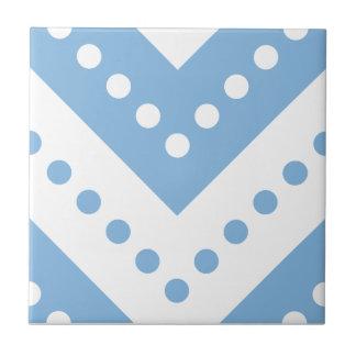 Chevron 7 Placid Blue Ceramic Tile