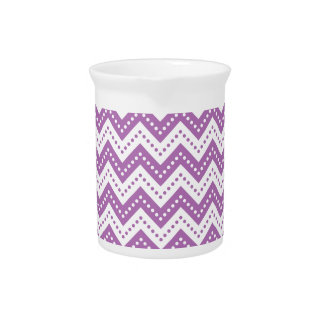 Chevron 7 Radiant Orchid Drink Pitchers