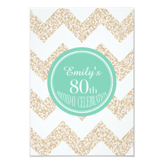 Chevron 80th Birthday Celebration - Choose Color Card