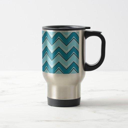 Chevron 8 azul claro taza de café