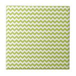 Chevron Ácido-Verde-Y-Blanco Azulejos