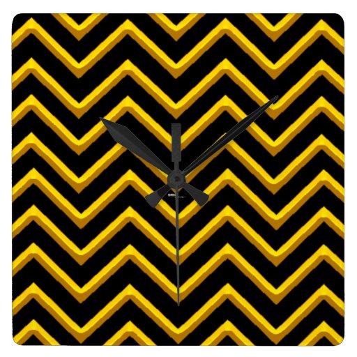 Chevron adaptable metálico/de oro reloj cuadrado