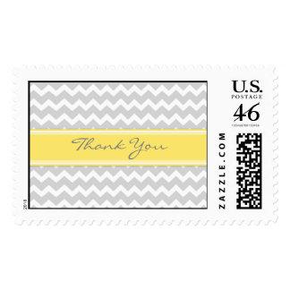 Chevron amarillo gris le agradece los sellos del b
