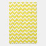 Chevron amarillo toallas