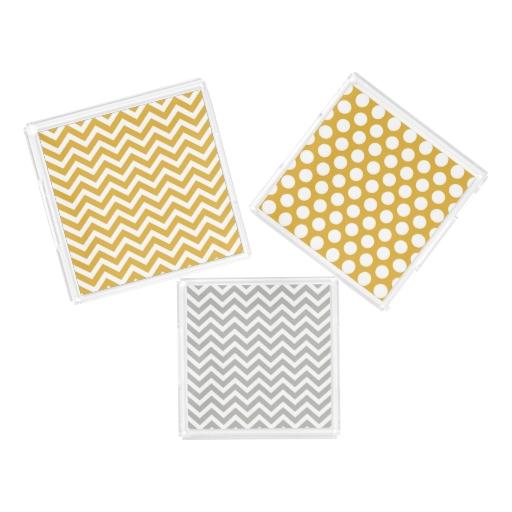 Chevron Square Acrylic Tray Chevron and Dots Acrylic Tray