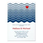 "Chevron and Heart Engagement Party Invitation 5"" X 7"" Invitation Card"