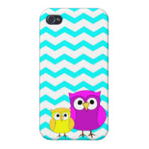 Chevron and Owls iPhone 4 Case