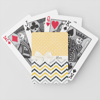 Chevron and Polka Dots Bicycle Playing Cards