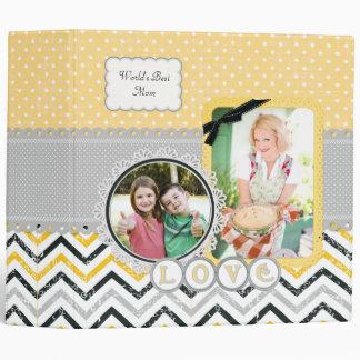 Chevron and Polka Dots Mother's Day Custom Album Binder