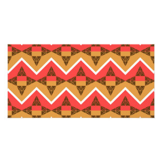 Chevron and triangles card