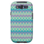 Chevron Aqua Pattern Galaxy S3 Case