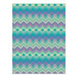 Chevron Aqua Pattern Post Cards