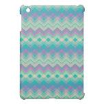 Chevron Aqua Pern iPad Mini Cases