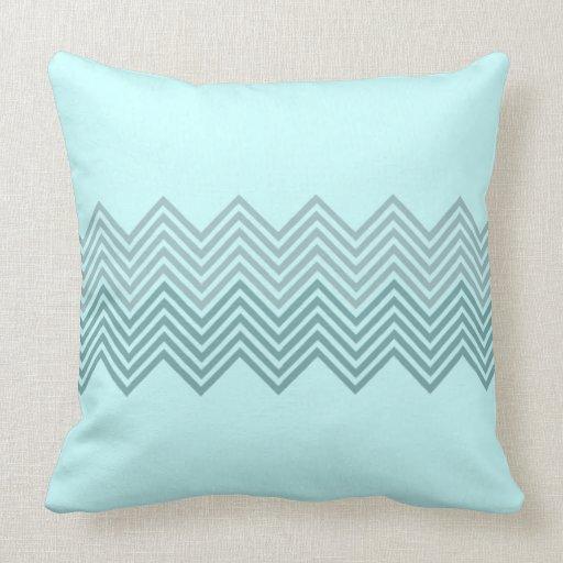 Chevron azul almohada