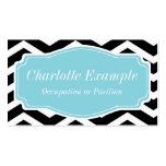 Chevron azul blanco negro personal plantilla de tarjeta de negocio