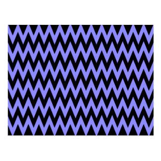 Chevron azul negro tarjeta postal