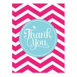 Chevron azul rosado le agradece postales