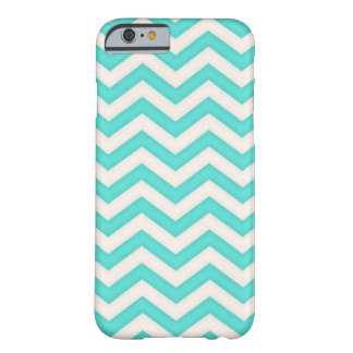 Chevron Baby Blue Waves Pattern Barely There iPhone 6 Case