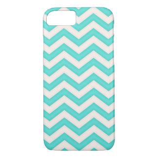Chevron Baby Blue Waves Pattern iPhone 7 Case