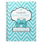 Chevron Baby Shower Guest Book- Journal