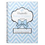 Chevron Baby Shower Guest Book- Spiral Notebooks