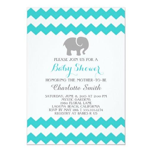 chevron baby shower invitation zazzle