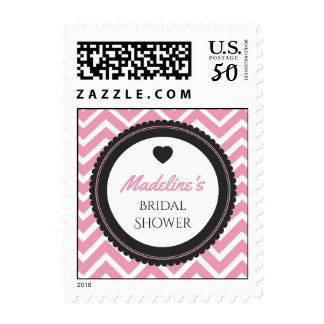 Chevron Bachelorette Party (Purple / Gray) Postage