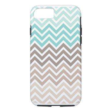 Beach Themed Chevron Beach Color Scheme iPhone 7 Case