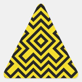 Chevron Bee Triangle Sticker