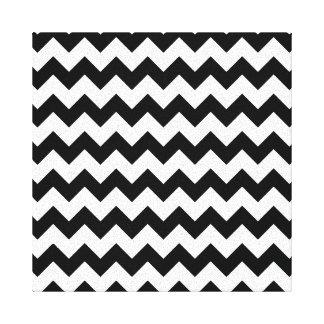 Chevron Black And White Canvas Print