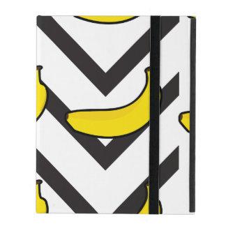 Chevron black and white iPad folio case