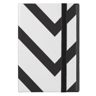 Chevron black and white iPad mini cases