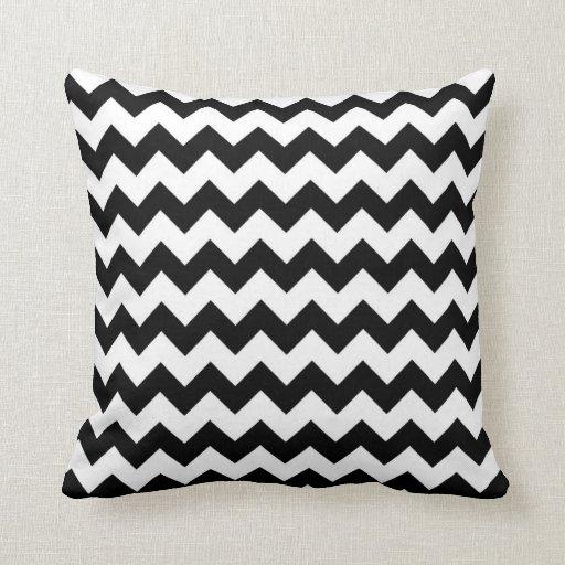 Black And White Chevron Throw Pillows : Chevron Black And White Throw Pillow Zazzle