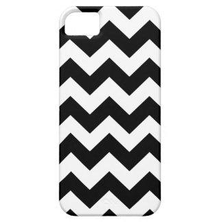 Chevron blanco negro raya la caja del iPhone 5 Funda Para iPhone SE/5/5s