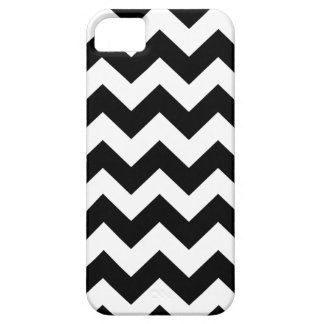 Chevron blanco negro raya la caja del iPhone 5 iPhone 5 Fundas