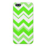 Chevron blanco verde Pern iPhone 5 Coberturas