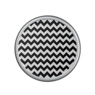 Chevron blanco y negro clásico altavoz bluetooth