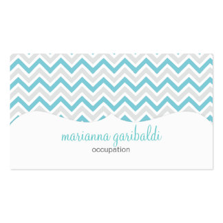 Chevron Blue and Modern Personalized Business Card Templates