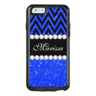 Chevron Blue Glitter OtterBox iPhone 6/6s Case