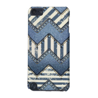 Chevron Blue Jean Pattern Print Design iPod Touch (5th Generation) Case