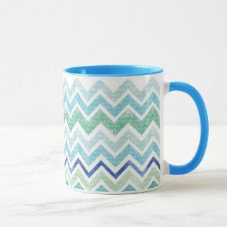 Chevron Blue Mug