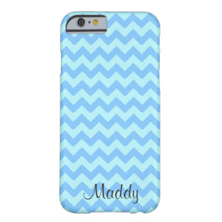 Chevron Blue Personalized Barely There iPhone 6 Case
