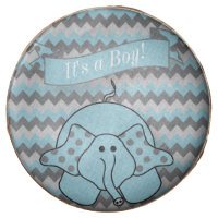 Chevron Blue Striped Cute Cartoon Elephant Chocolate Covered Oreo