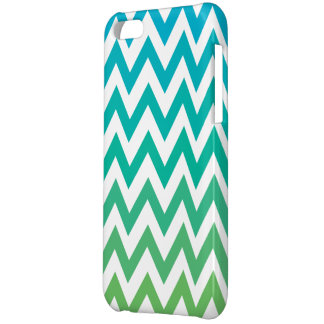 chevron bluegreen vintage iphone 5c glossy finish iPhone 5C covers