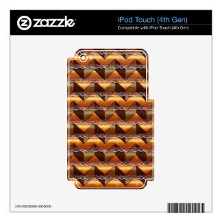 Chevron Brown Lace Multiple products selected Decals For iPod Touch 4G
