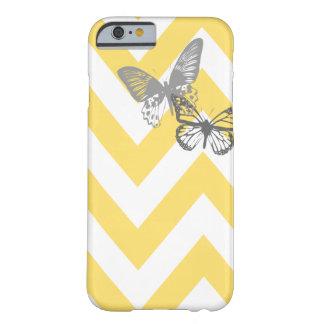 Chevron Butterflies iPhone 6 case | Yellow Grey