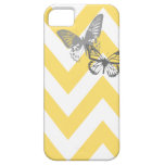 Chevron Butterflies Iphone Case | Yellow Grey iPhone 5 Cover