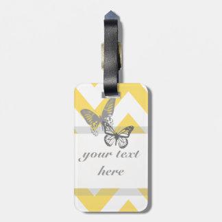 Chevron Butterflies Luggage Tag